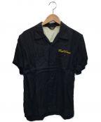 FLAT HEAD(フラット ヘッド)の古着「レーヨンハワイアンシャツ」 ブラック