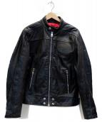 DIESEL(ディーゼル)の古着「カウハイドレザージャケット」|ブラック