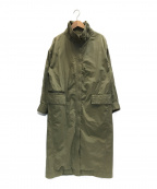 DRESSTERIOR(ドレステリア)の古着「ステンカラーコクーンコート」|グリーン