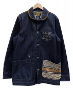 NEIGHBORHOOD(ネイバーフッド)の古着「フロント刺繍切替デニムカバーオール」|インディゴ