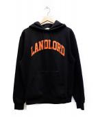 LANDLORD(ランドロード)の古着「ロゴプルオーバーパーカー」|ブラック