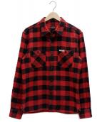 ()の古着「ブロックチェックシャツ」|レッド×ブラック