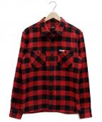 THE FLAT HEAD(ザ・フラットヘッド)の古着「ブロックチェックシャツ」|レッド×ブラック