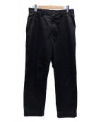 ()の古着「綿エステルツイルトラウザー」|ブラック