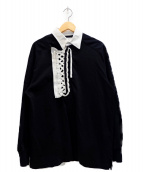 FACETASM(ファセッタズム)の古着「CHOLOMBIANO RUGBY SHIRT」|ブラック