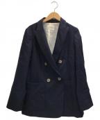 IENA()の古着「ウール ダブルブレストジャケット」|ネイビー
