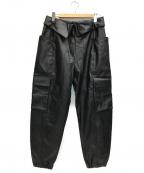 JORDAN(ジョーダン)の古着「フェイクレザーパンツ」|ブラック