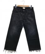 SIMON MILLER(サイモンミラー)の古着「カットオフデニムパンツ」|ブラック