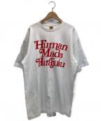 HUMAN MADE(ヒューマンメイド)の古着「プリントTシャツ」|ホワイト×レッド