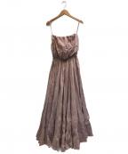 MARIHA(マリハ)の古着「コットンカラーベアドレス」|ピンク
