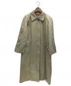 Burberrys()の古着「裏ノヴァチェックステンカラーコート」|ベージュ