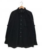 FAT(エフエーティー)の古着「BIGGIEROYコーデュロイシャツ」 ブラック