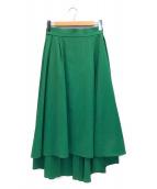 ()の古着「ドライストレッチフレアスカート」|グリーン
