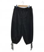 syte(サイト)の古着「Cotton Twill Washer Hakama Bal」|ブラック