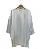 LAD MUSICIAN(ラッドミュージシャン)の古着「サイドスリットビッグシルエットTシャツ」 ホワイト