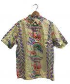 Sun Surf(サンサーフ)の古着「アンスリウム プルオーバーボタンダウンシャツ」|イエロー