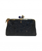 ANNA SUI(アナスイ)の古着「プレイングキャット外口金ファスナー長財布」 ブラック