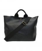 TOPKAPI(トプカピ)の古着「スコッチグレイン ネオレザートートバッグ」|ブラック