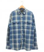 RRL()の古着「ヘビーコットンシャツ」|ブルー