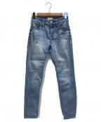 YANUK(ヤヌーク)の古着「ルースリアリーライトスリムテーパードデニムパンツ」 ブルー