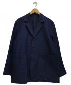 EDIFICE(エディフィス)の古着「ラブークル ステッチワークジャケット」 ネイビー