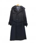 LIDnM(リドム)の古着「AUTHENTIC WIDE TRENCH COAT」|ネイビー