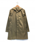 EDIFICE(エディフィス)の古着「KOMATSUストレッチツイル ステンカラーフードコート」 ベージュ