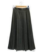 uncrave(アンクレイヴ)の古着「ウールプリーツスカート」 グレー