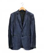 EMPORIO ARMANI(エンポリオアルマーニ)の古着「リネン混テーラードジャケット」|ネイビー