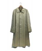 ()の古着「裏ノヴァチェックステンカラーコート」|ベージュ