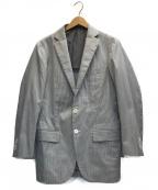 RING JACKET(リングジャケット)の古着「2Bジャケット」 ホワイト×グレー