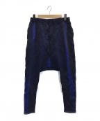 Y's(ワイズ)の古着「総柄サルエルパンツ」 ブルー
