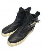 GIUSEPPE ZANOTTI(ジュゼッペザノッティ)の古着「サイドジップシューズ」|ブラック