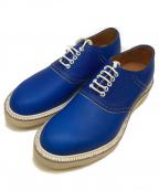 08sircus(ゼロエイトサーカス)の古着「プレーントゥシューズ」 ブルー