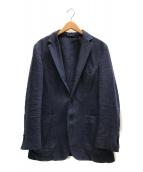 ()の古着「リネン混ラードジャケット」|ネイビー