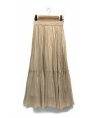 ()の古着「カロギャザースカート」|ベージュ