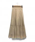 JILL STUART(ジルスチュアート)の古着「カロギャザースカート」|ベージュ