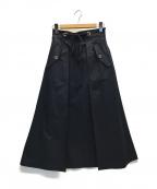 JILL STUART(ジルスチュアート)の古着「ロッシースカート」|ネイビー