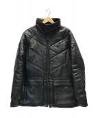 ()の古着「中綿カウレザージャケット」|ブラック