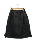 Rene(ルネ)の古着「フラワージャガードバルーンスカート」|ブラック