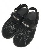 REEBOK(リーボック)の古着「PLEASURES Beatnik Sandals」 ブラック