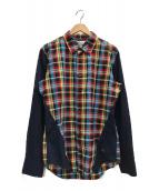 ()の古着「切替チェックシャツ」|マルチカラー