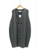 ()の古着「Stripe Gilet」 グレー