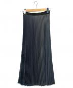 08sircus(ゼロエイトサーカス)の古着「Drape satin pleated skirt」 ブラック×グレー