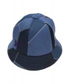 ()の古着「Bermuda Hat Patch Work IN024」 ブルー