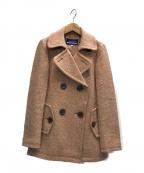 BURBERRY BLUE LABEL(バーバリーブルーレーベル)の古着「Pコート」|ピンク