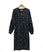 tsumori chisato(ツモリチサト)の古着「刺繍ワンピース」|ブラック