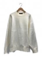 STUNNING LURE(スタニングルアー)の古着「コットンカシミアニットスウェット」|ホワイト