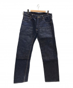 SAMURAI JEANS(サムライジーンズ)の古着「細身ダックダブルニーデニムパンツ」|インディゴ