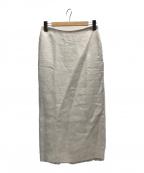 DEUXIEME CLASSE(ドゥーズィエム クラス)の古着「LINENスカート」|アイボリー